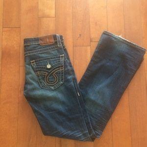 Big Star Distressed Bootcut Jean